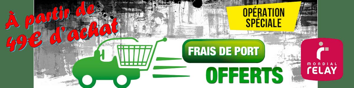 frais de ports offerts dès 49€ d'achat